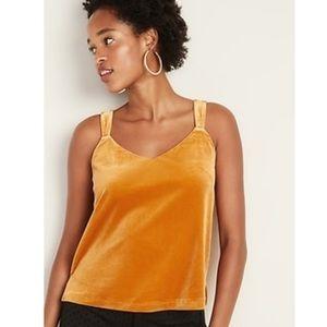 Old Navy Marigold Velvet V-neck Cami